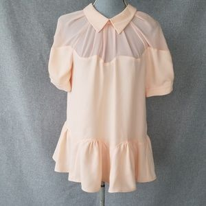 NWT Opening Ceremony Pink Crepe Top